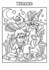 Wizard Coloring Template Templates Forge Poster Books sketch template