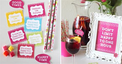 happy hour party ideas  printables   girls