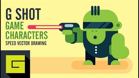 Speed Drawing How to draw Game Character G Shot Adobe
