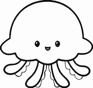 Jellyfish Clipart Black And White | Free download best ...