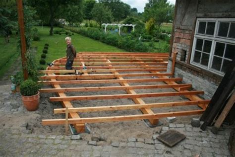 Fliesen Unterbau Holz by Terrasse Holz Unterbau 53 Images Hausbau Terrasse