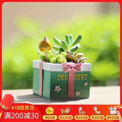 Zakka สร้างสรรค์น่ารักมินิกระถางดอกไม้ succulents กระถางดอกไม้ เรซิ่น บุคลิกภาพ succulent จัดส่ง ...