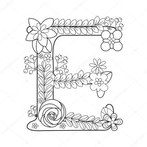 Kleurplaat E by Letter E Kleurboek Voor Volwassenen Vector Stockvector