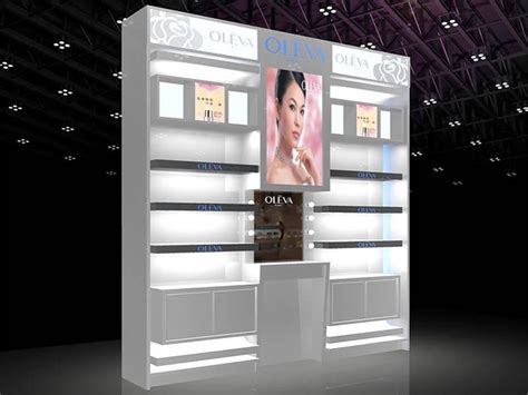 Rak Toko Kosmetik led light cosmetic display rak perlengkapan toko kosmetik