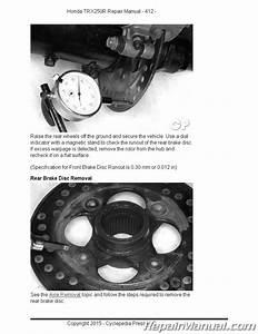Honda Trx250r Fourtrax Cyclepedia Printed Atv 1986