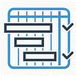 Icon Schedule Planning Management Icons Transparent Milestones
