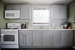 Gray cabinets green walls white appliances cabinets are for Kitchen colors with white cabinets with rusted metal wall art
