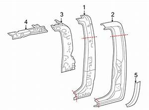 Toyota Tacoma Roof Side Rail  Access Cab  Right  Panel  Components  Body