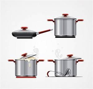Metal Cooking Pot & Pan Vector Graphics (Free), vector ...