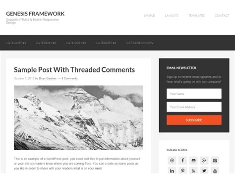 author page template genesis best blog themes blog templates boa