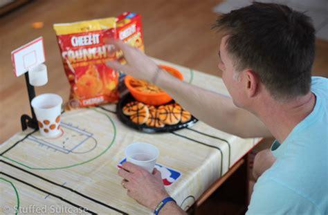 diy tabletop basketball game fun basketball party ideas