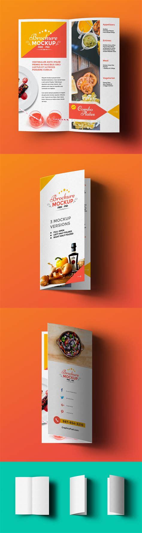 A Collection Of Free Psd Brochure Mockups Psd Bi Fold Mockup Template Vol2 Rar