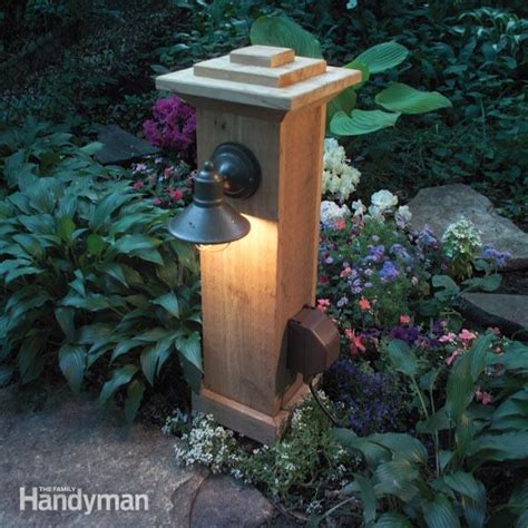 outdoor light with electrical outlet how to install outdoor lighting and outlet the family