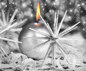 silver christmas candle photograph by anna om