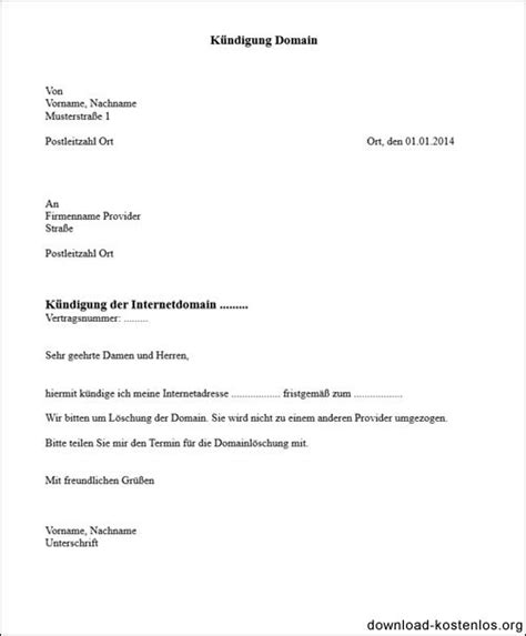 kündigung per einschreiben domain k 252 ndigen vorlage f 252 r word k 252 ndigungsschreiben
