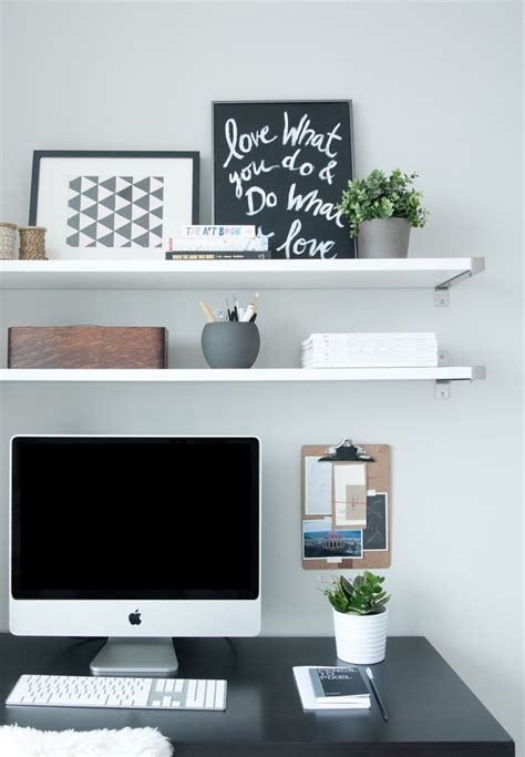 Ikea Floating Desk Shelf by Best 25 Desk Shelves Ideas On Desk Space