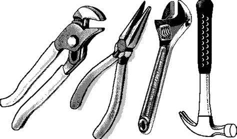 tool kit clipart black and white free tools clipart black and white cliparts suggest