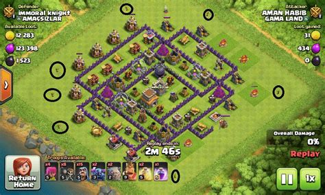 attack strategy th8 hall gowipe town th11 stars cocbases