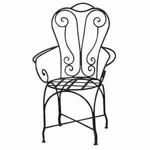 Chaise En Fer Forgé : chaise en fer forg chaise bras de jardin design ~ Dode.kayakingforconservation.com Idées de Décoration