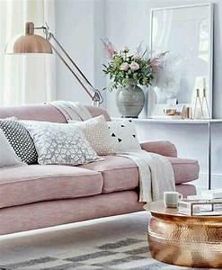 Femenen Pastel Soft Living Room  Rose Sofa