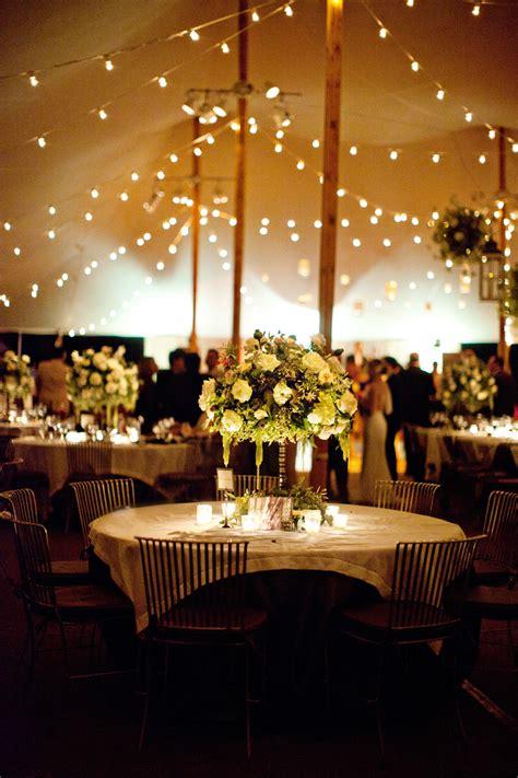 tent reception string lights elizabeth designs the