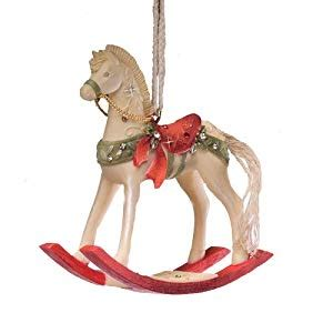rocking horse christmas ornaments enesco of rocking ornament 3 inch co uk kitchen home