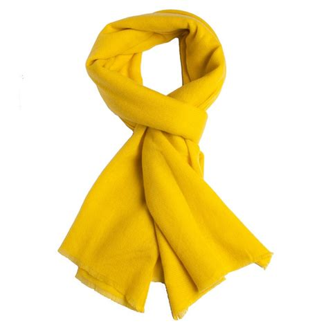 printed wool scarf yellow scarf in twill weave