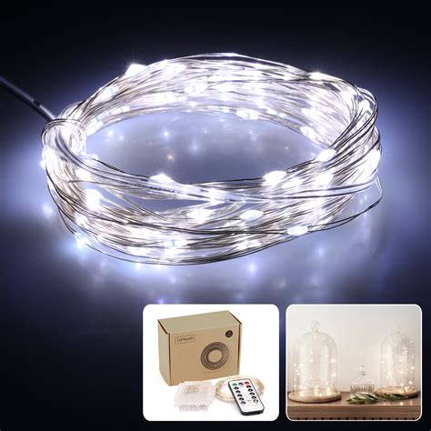 led string lights with remote battery powered remote control 10m 100 led christmas