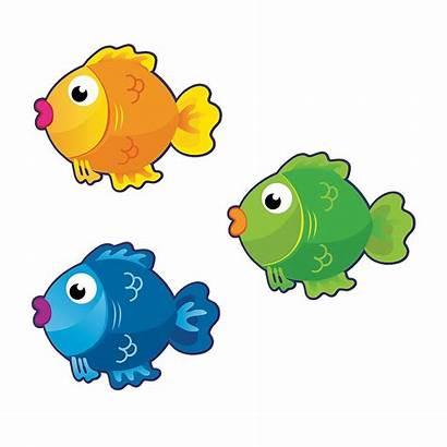Fish Cutouts Bulletin Board Clipart Cartoon Clip