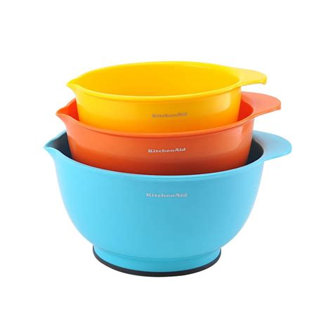 mixing bowls kitchenaid classic kitchen bowl colors assorted plastic stirring colorful food aid
