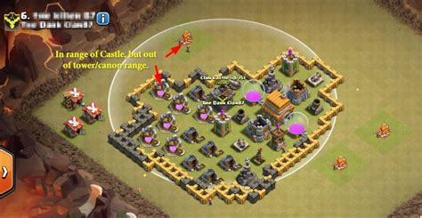 draw  troops  clan castle   middle