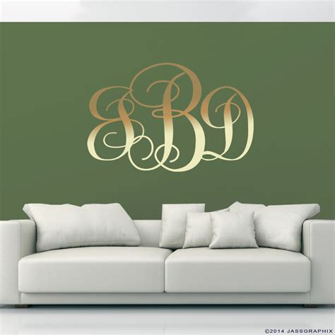 wall applique monogram wall decals personalise your rooms and walls