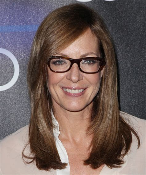 Allison Janney Long Straight Formal Hairstyle with Side