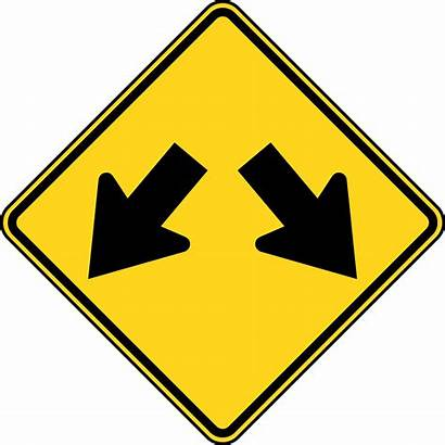 Clipart Sign Traffic Road Arrow Double Side