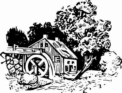 Clipart Mill Water Watermill Svg Wheel Vector