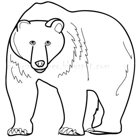 Grizzly Bear Face Coloring Pages