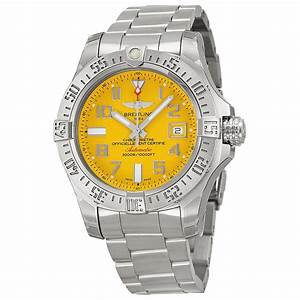 Breitling Avenger II Seawolf Yellow Dial Stainless Steel ...