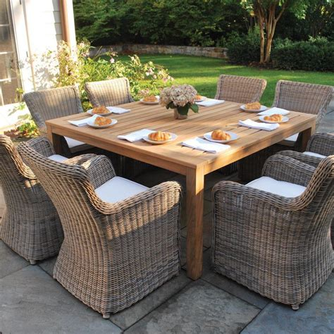 furniture wicker outdoor dining chairs brown all