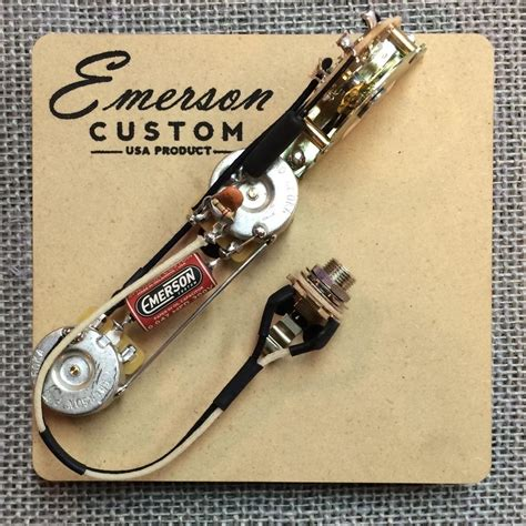Telecaster Wiring Diagram Emerson by Emerson Custom 3 Way Esquire Prewired Kit E3 500k Axe