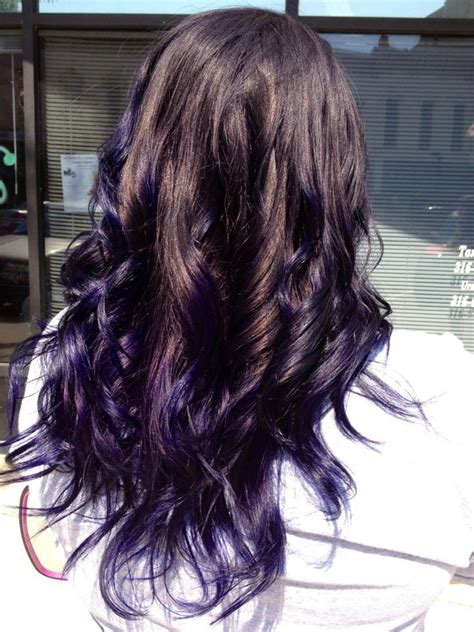 Deep Purple Ombre Hair Hair Pinterest Deep Purple