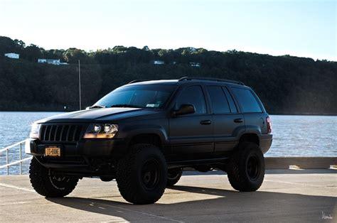 matte jeep grand cherokee matte black 2004 wj jeep full dip transformation