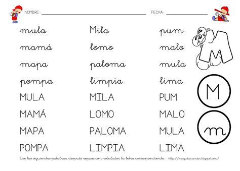 Lectoescritura (letra M