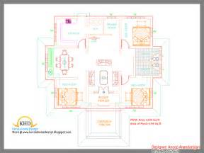 architect house designs single floor house plan and elevation 1290 sq ft home