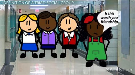 triad social group definition examples video lesson