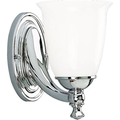 Bathroom Sconces Chrome by Progress Lighting Collection 1 Light Chrome Bath