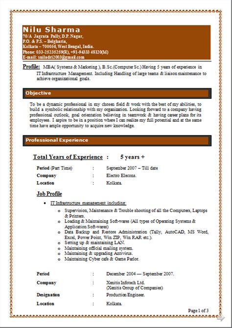 Excellent Resume Exles 2014 by Resume Co Excellent Resume Sle Of Mba Systems Marketing B Sc Computer Sc