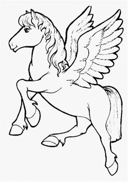 Coloring Unicorn Pages Unicorns Children Clipart