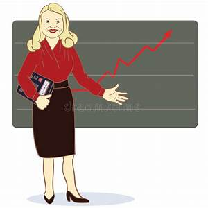 Female Accountant Profession Concept Stock Vector