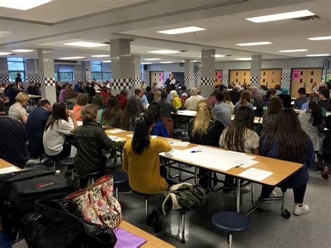 Packed Rooms by Debate J E B Stuart High School Name Change