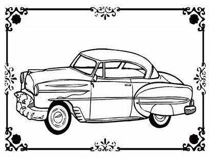 Coloring Printable Classic Pages Realistic Cars